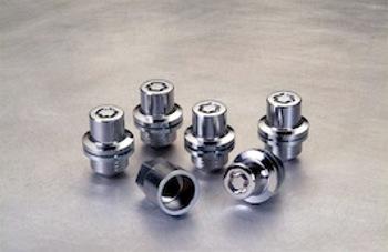 Genuine Land Rover Wheel Lock Lug Nut Set with Key Chrome OEM