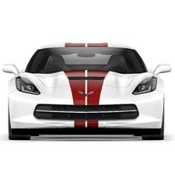 CORVETTE CONVERTIBLE CLARET FULL LENGTH DUAL RACING STRIPE PACKAGE - GM (23172536)