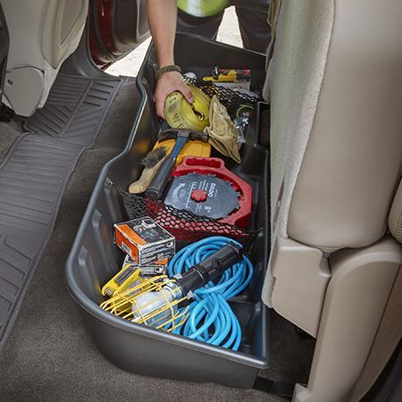 REAR UNDERSEAT STORAGE ORGANIZER, EBONY, CREW CAB - GM (23183674)