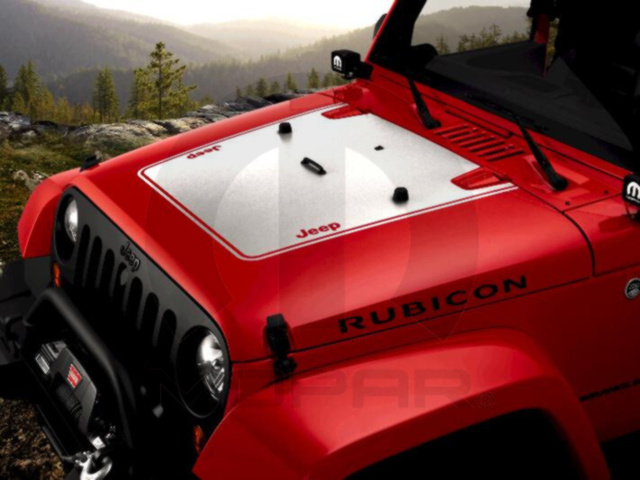 MOPAR Hood Applique with Jeep Logo CHROME