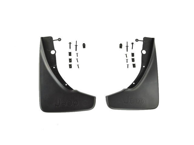 Splash Guards, Molded, Rear, Jeep Logo - Mopar (82212020AD)