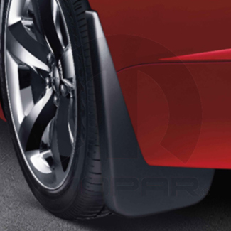 Deluxe Molded Splash Guards - Black - Front