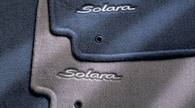 Floor Mats, Carpet, Solara Logo, Front Set