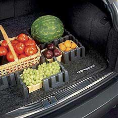 Molded Carpeted Trunk Mat W/ Cargo Management