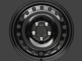 17in X 6.5in Plain Steel Wheel