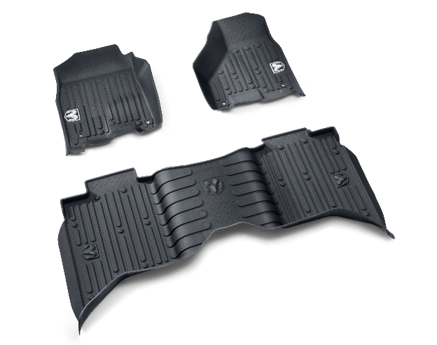 All-Weather Floor Mats - Brown - Mega Cab