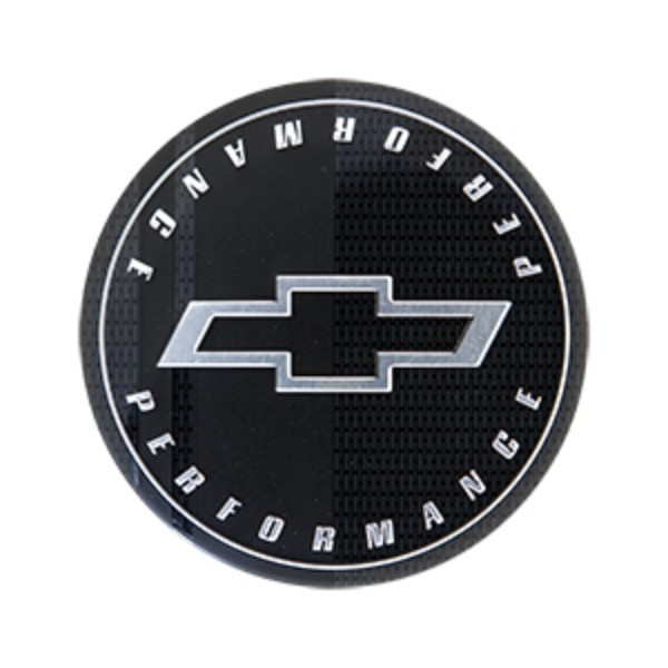 Wheel Center Caps, Black w/Silver Performance Logo - Gen 6 Camaro