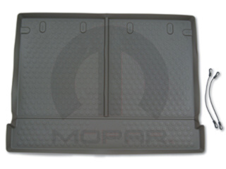 JEEP COMMANDER CARGO AREA TRAY MAT MOLDED BLACK