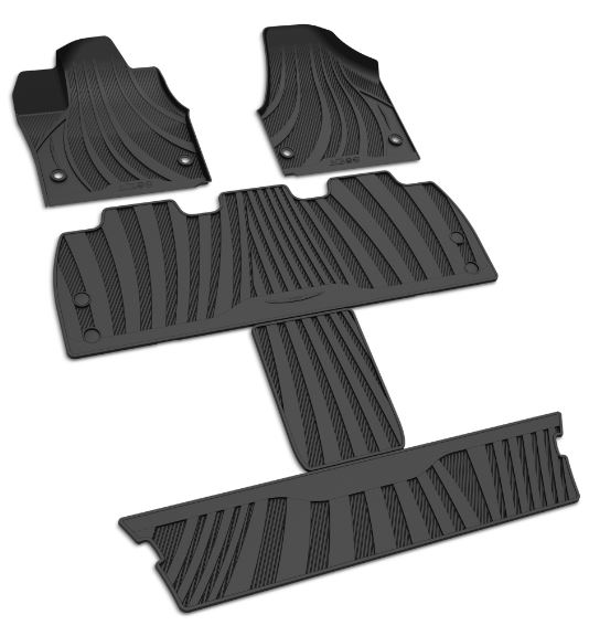 All-Weather Floor Mats, Black