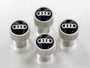 Carbon Fiber Valve Stem Caps With Audi Rings - Audi (ZAW-071-215)
