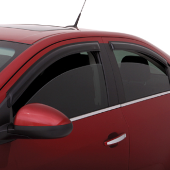 Air Deflectors, Front Windows, In-Channel