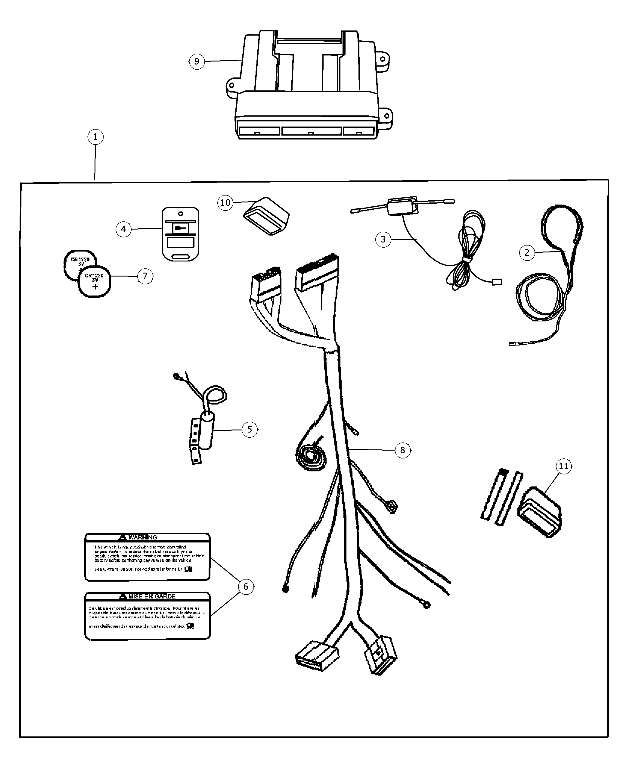 2006 2007 Dodge Charger Remote Start Install Kit 82208995ag