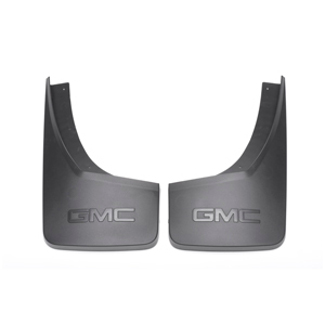 Splash Gaurds, Rear, Molded, Gmc Logo