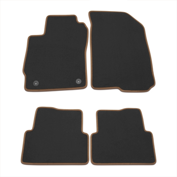 Black front and rear carpet floor mat package