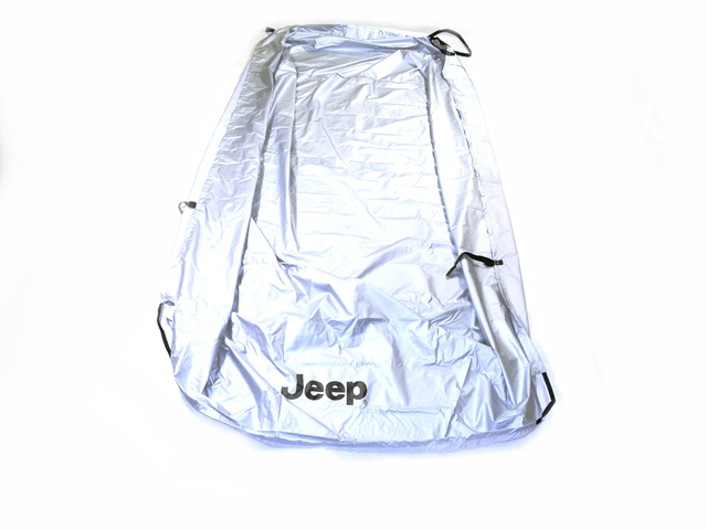 Cover, Vehicle, Jeep Logo, Silver - Mopar (82210322AB)