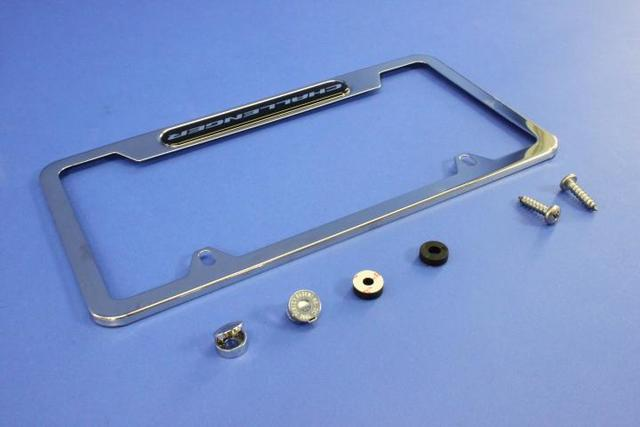 License Plate Frame, Polished