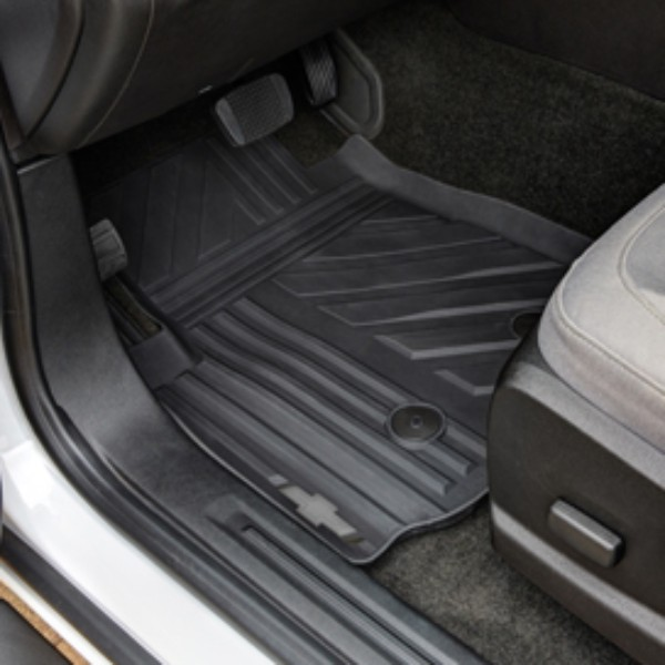 Floor Mats, All-Weather, Front, Gray Bow-Tie