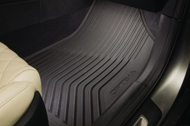 2014 Kia Optima All Weather Floor Mats Genuine OEM NEW Part # 2T013-ADU10 - Kia (2T013-ADU10)