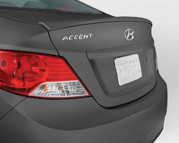 Rear Lip Spoiler, Triathlon Gray