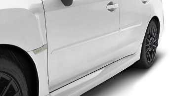 Splash Guards Rear Aero, Crystal White Pearl