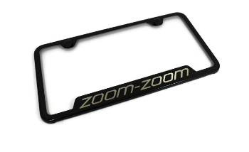 License Plate Frame, Zoom Zoom