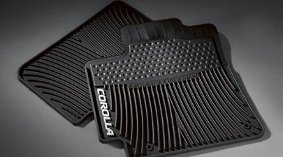 2-piece All Weather Floor Mats Black Cor - Toyota (PT908-02110-20)