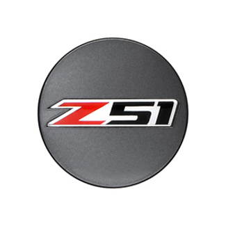 Wheel Center Caps, Z51 Logo, Metallic Grey