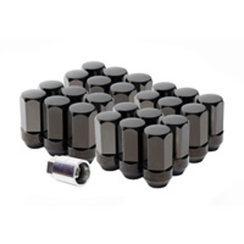 Wheel Lug Nuts, Black (24pc)