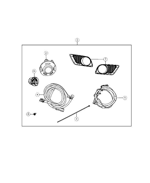 Light Kit, Fog - Bezel, Fog Lamp - Mopar (68092573AA)