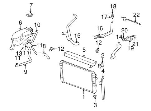 radiator components for 2001 oldsmobile alero. Black Bedroom Furniture Sets. Home Design Ideas