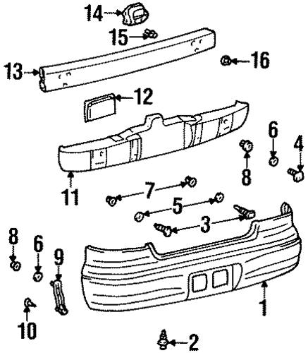 Geo Prizm Body Parts