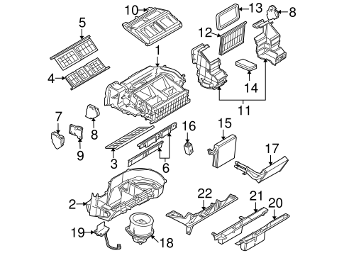 evaporator & heater components for 2006 buick terraza (cx) 2006 buick terraza engine diagram