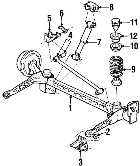 Rear Suspension For 2003 Oldsmobile Silhouette