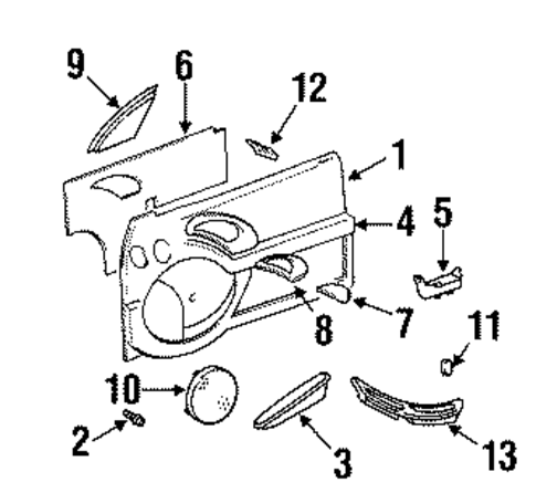Location Of Keyless Entry Module additionally Auto Door Mirrors in addition 1965 Mustang Fog Lights moreover Ford Triton Motor furthermore Fuel Injection Blower. on ford f series 350 1996 fuse box diagram usa