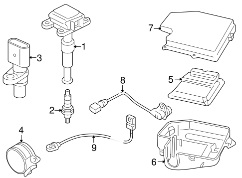 Audi Ignition Coil Box