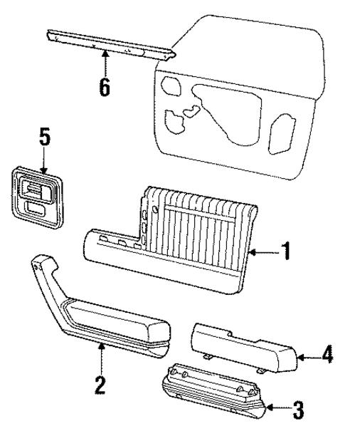 Interior Trim Front Door For 1994 Buick Century Custom