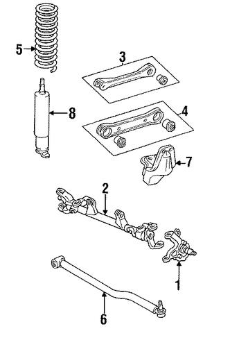 jeep xj vacuum diagram 1987 1991 jeep xj suspension diagram suspension components for 1991 jeep comanche #6