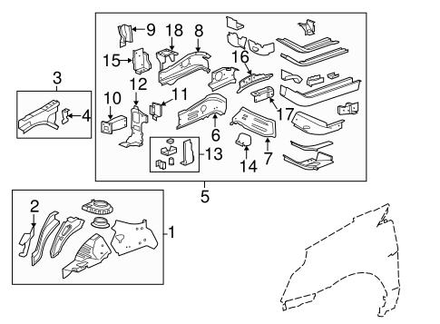 structural components rails parts for 2012 cadillac srx. Black Bedroom Furniture Sets. Home Design Ideas