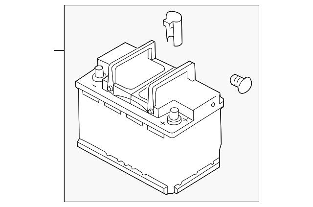 battery for 2014 volkswagen gti 000 915 105 dg. Black Bedroom Furniture Sets. Home Design Ideas