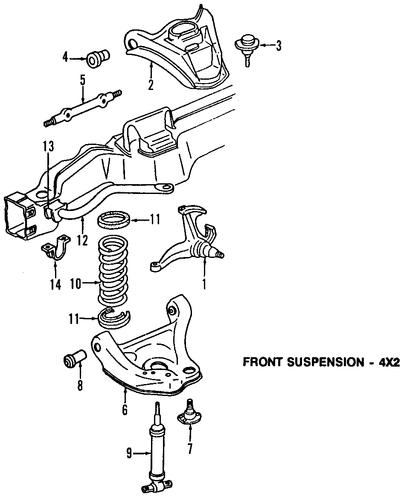 upper control arm for 2002 gmc safari 2002 gmc safari parts diagram