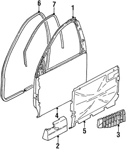 Door Amp Components Parts For 2002 Saturn Sc2
