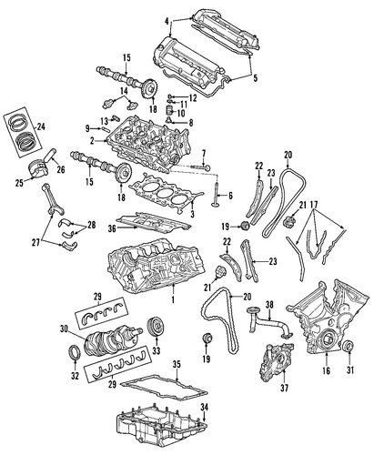 Engine For 2003 Ford Escape