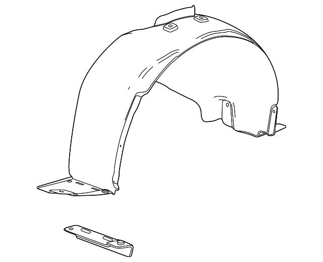 fender liner for 2015 chevrolet cruze 95472793. Black Bedroom Furniture Sets. Home Design Ideas