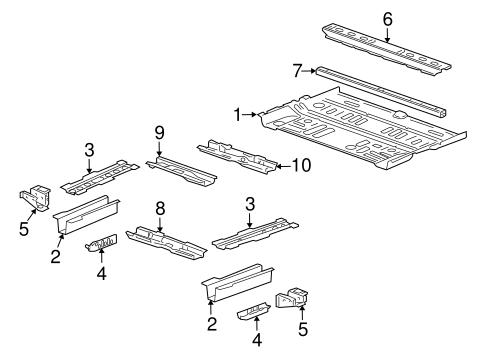 floor rails parts for 2012 cadillac srx. Black Bedroom Furniture Sets. Home Design Ideas