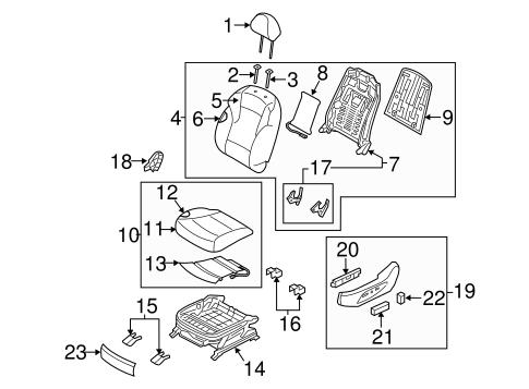 driver seat components for 2011 hyundai sonata. Black Bedroom Furniture Sets. Home Design Ideas