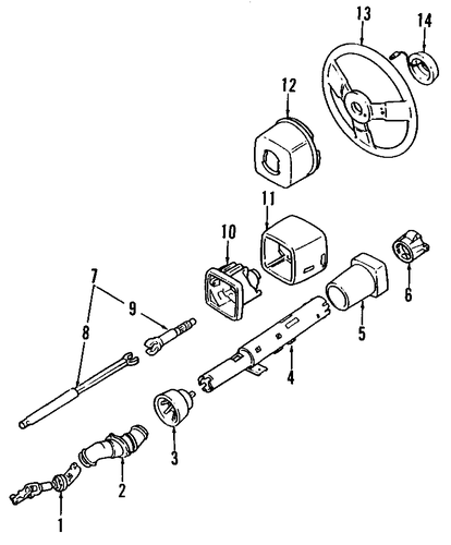Steering Column Amp Wheel Parts For 1989 Cadillac Eldorado
