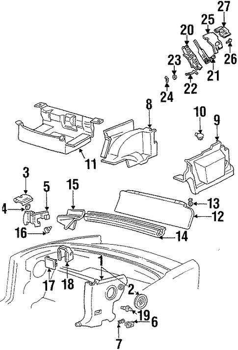 Interior Trim Rear Body For 2002 Pontiac Firebird Trans Am