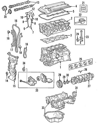 genuine oem engine parts for 2002 toyota rav4 base. Black Bedroom Furniture Sets. Home Design Ideas