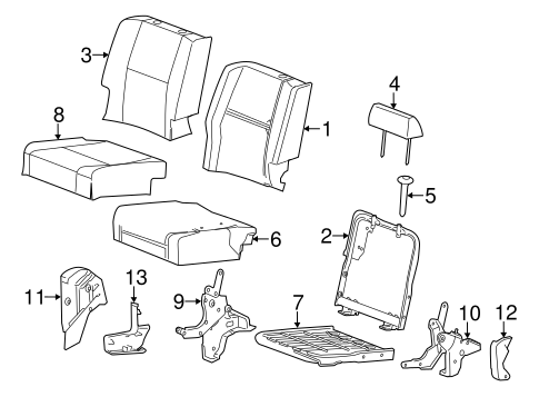 rear seat components for 2008 chevrolet silverado 1500. Black Bedroom Furniture Sets. Home Design Ideas