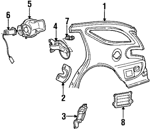 ford f250 door latch diagram